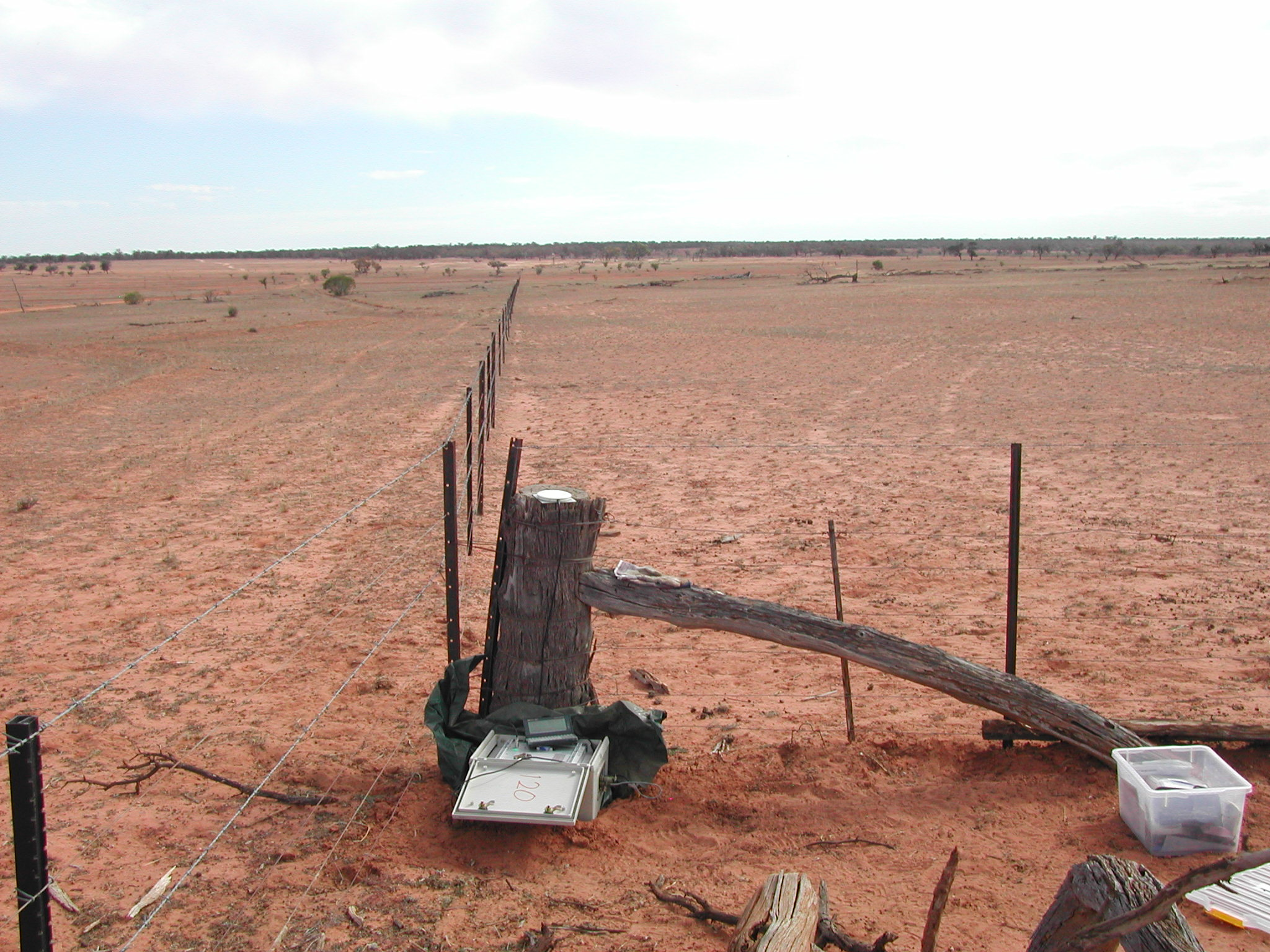 Short period station deployed in outback NSW.